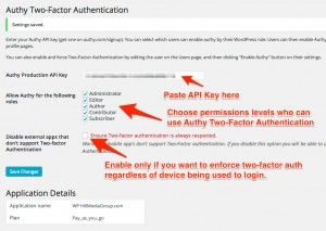 Authy Two-Factor Authentication Plugin Settings