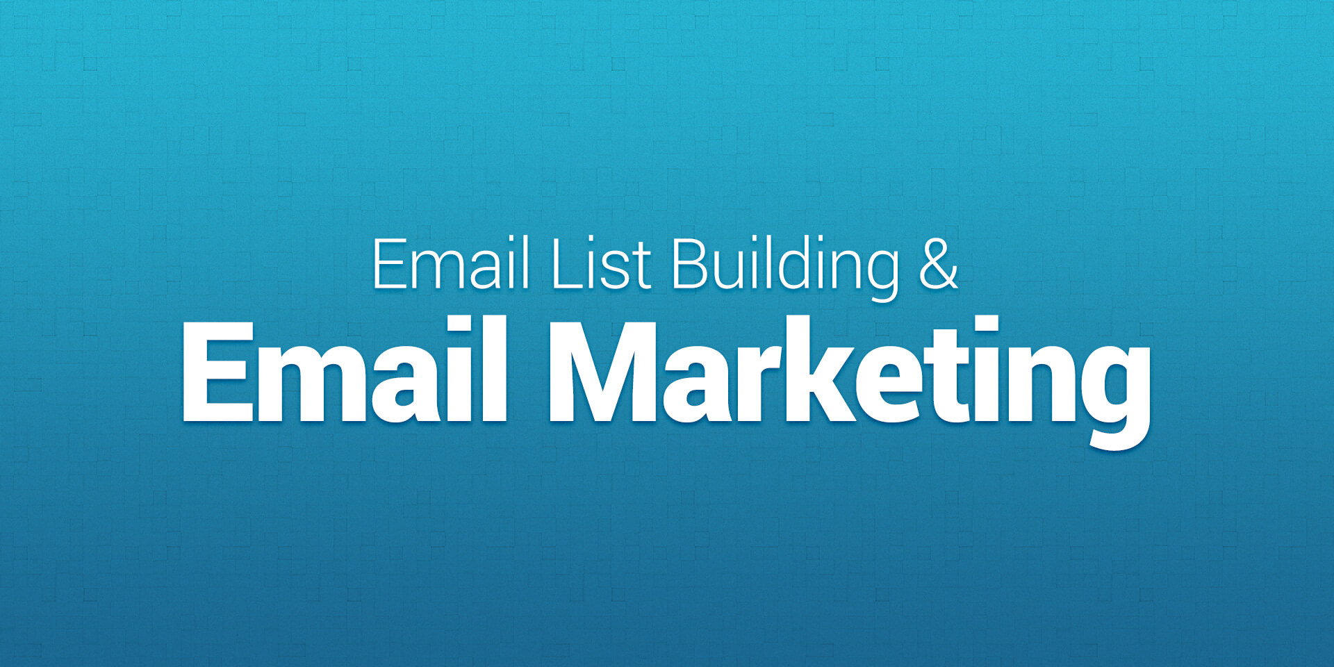 Email list building and email marketing