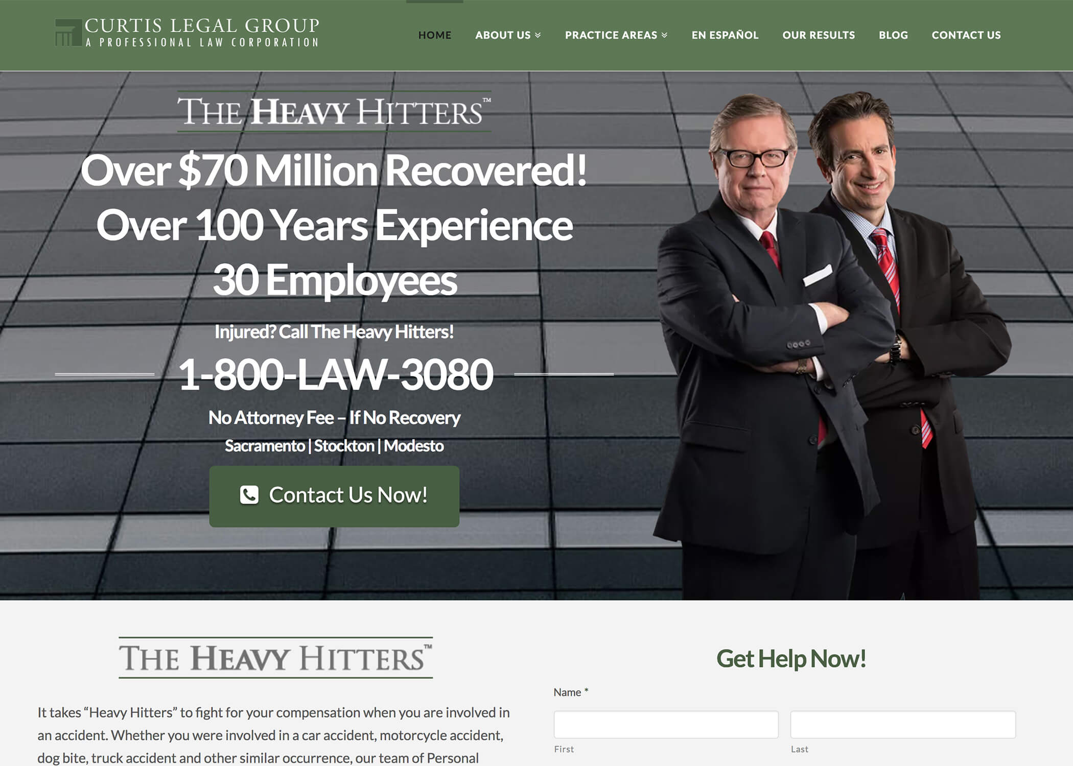 Curtis Legal Group Website