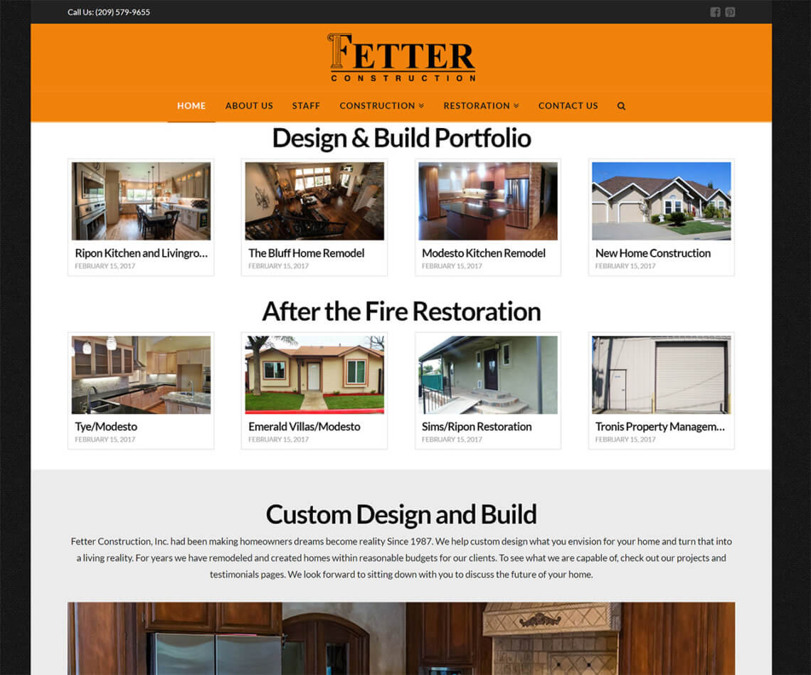 Fetter Construction Inc Modesto Custom Homes Restoration