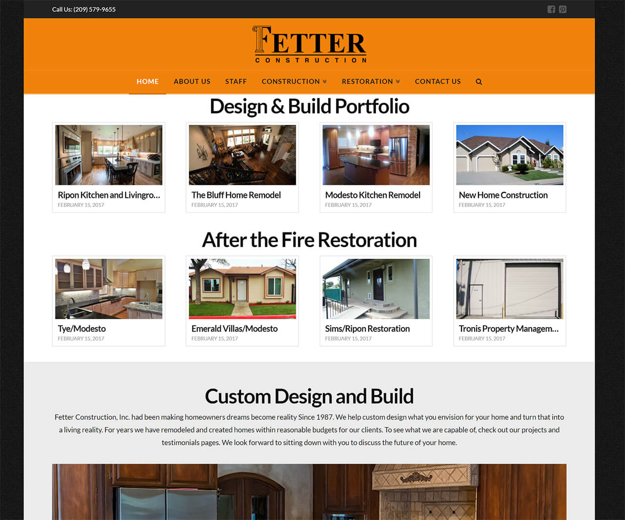 Fetter Construction Inc Modesto Custom Homes Restoration - Hill ...